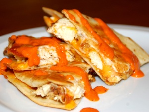 Recipe: Chicken Quesadillas with Roasted Red Pepper Sauce